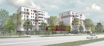 Entwurf GWG-Bauprojekt Schleißheimer Straße 450 von h4a Gessert + Randecker Generalplaner GmbH