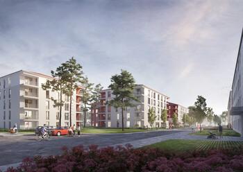 Entwurf GWG-Bauprojekt Harthof durch bogevischs buero