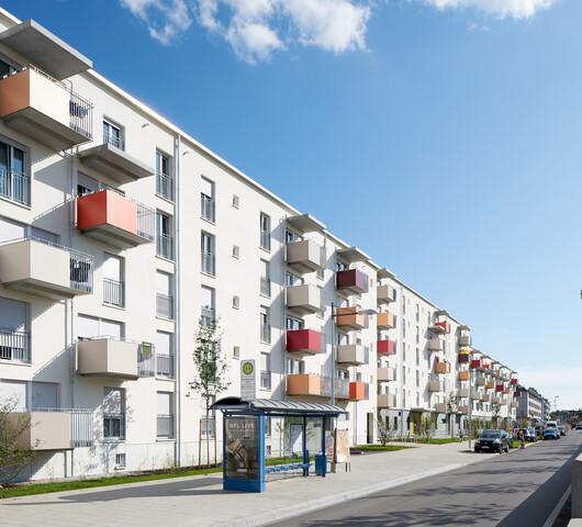 GWG-Wohnanlage Garmischer Straße im Stadtteil Sendling-Westpark