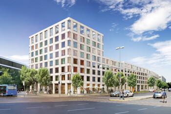 GWG Projekt MK6 an der Theresienhöhe in München, Steidle Architekten mit Liebald + Aufermann Landschaftsarchitekten